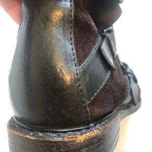 rag & bone Shoes - Rag & Bone brown suede motorcycle boots w/ buckles